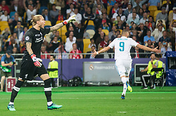 Loris Karius of Liverpool reacts after Karim Benzema of Real Madrid scored first goal during the UEFA Champions League final football match between Liverpool and Real Madrid at the Olympic Stadium in Kiev, Ukraine on May 26, 2018.Photo by Sandi Fiser / Sportida