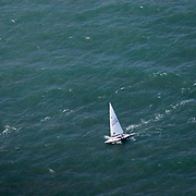 2007 Laser Nationals. Aerial images of sailboat regatta in Wrightsville Beach, North Carolina.