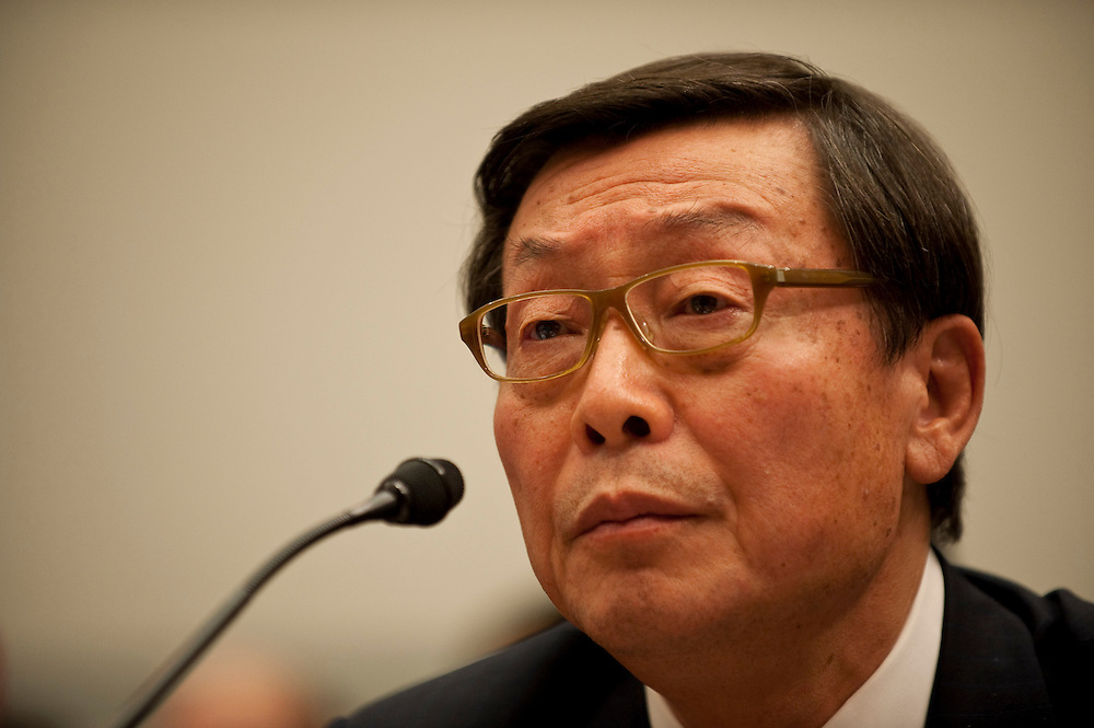 Feb 24,2010 - Washington, District of Columbia USA - .Yoshimi Inaba, President and COO of Toyota Motor North America, testifies to members of the House Oversight and Government Reform committee on the recall of 8 million vehicles worldwide..(Credit Image: © Pete Marovich/ZUMA Press)