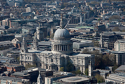 UK ENGLAND LONDON 21APR15 - View of the St. Paul's Cathedral, once the dominant and tallest feature on London's skyline. Seen from The Shard, Europe's tallest building.<br /> <br /> <br /> <br /> jre/Photo by Jiri Rezac<br /> <br /> <br /> <br /> © Jiri Rezac 2015