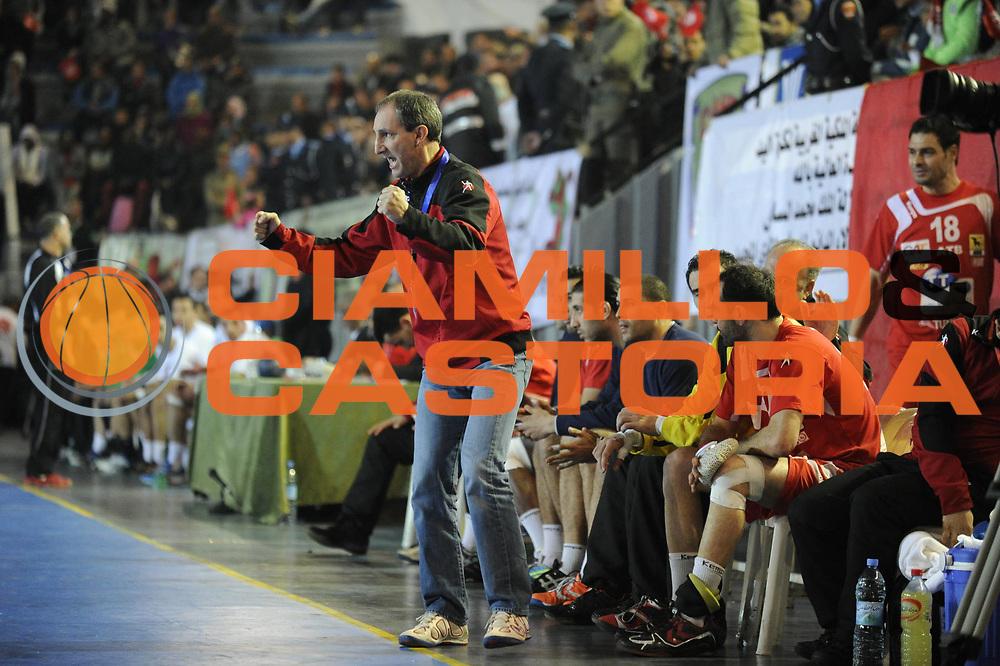 DESCRIZIONE : Hand Coupe Afrique des Nations Homme Maroc Rabat Finale<br /> GIOCATORE : Portes Alain<br /> SQUADRA : Tunisie<br /> EVENTO : FRANCE Hand CAN<br /> GARA : Algerie Tunisie<br /> DATA :20/01/2012<br /> CATEGORIA : Hand CAN<br /> SPORT : Handball<br /> AUTORE : JF Molliere <br /> Galleria : France Hand 2011-2012 Action<br /> Fotonotizia : CAN Hand RABAT Maroc Finale<br /> Predefinita :
