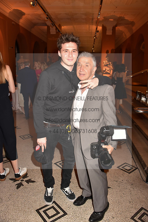 Brooklyn Beckham and James Peltekian at the Victoria & Albert Museum's Summer Party in partnership with Harrods at The V&A Museum, Exhibition Road, London, England. 20 June 2018.