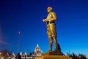 Captain Cook, Statue, Victoria, Harbor, Vancouver Island, Brithish Columbia, Canada