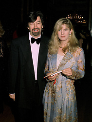 MR TREVOR NUNN, Director Emeritus of the Royal Shakespeare Company, and his wife actress IMOGEN STUBBS, at a dinner in London on 22nd May 1997.LYP 35