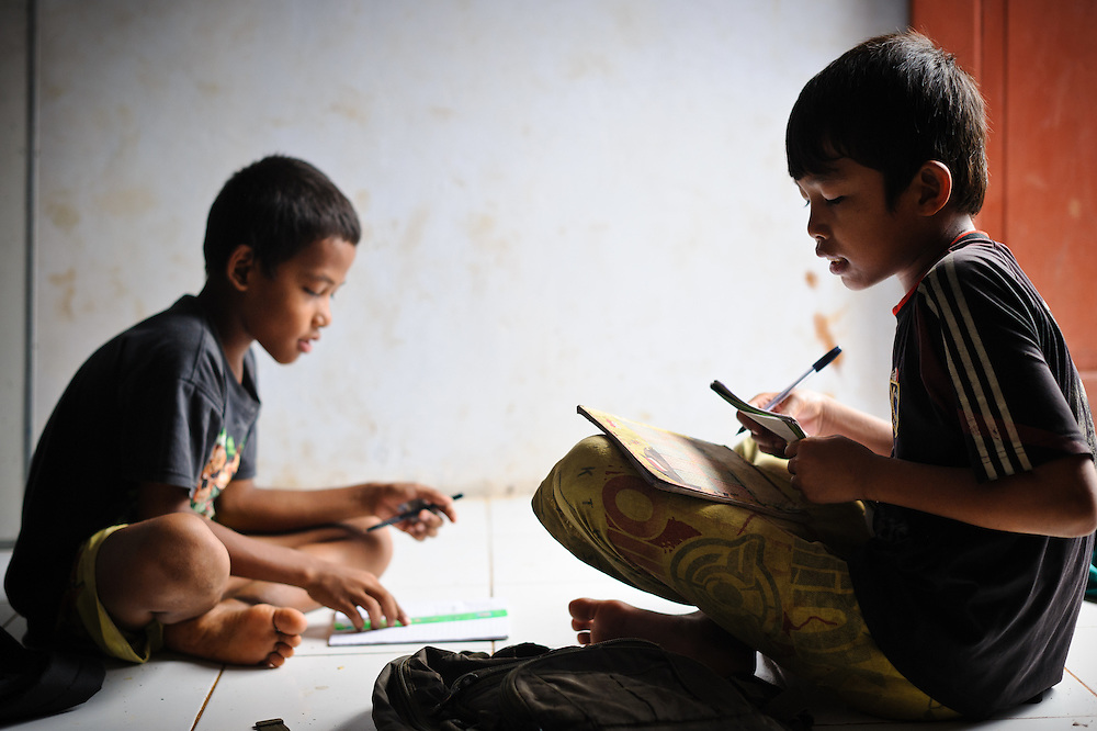 Ashuar, 12, at the school supported by the Sacred Childhoods Foundation, Makassar, Sulawesi, Indonesia.
