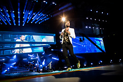 June 20, 2018 - Milan, Milan, Italy - Italian singer Cesare Cremonini performing live at Stadio Giuseppe Meazza San Siro in Milan, Italy, on 20 June 2018. (Credit Image: © Roberto Finizio/NurPhoto via ZUMA Press)