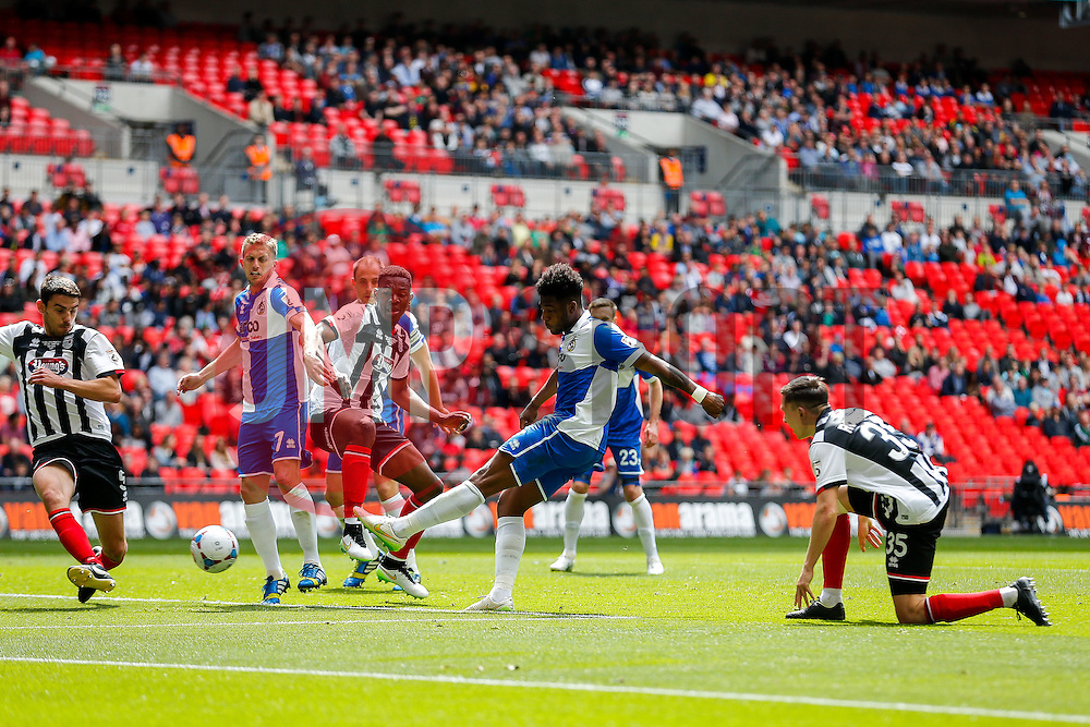 Ellis Harrison of Bristol Rovers scores a goal to make it 1-1 - Photo mandatory by-line: Rogan Thomson/JMP - 07966 386802 - 17/05/2015 - SPORT - FOOTBALL - London, England - Wembley Stadium - Bristol Rovers v Frimsby Town - Vanarama Conference Premier Play-off Final.