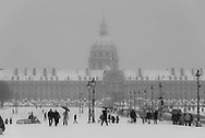 France. Paris.  the Invalides under the snow