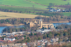 View of Linlithgow Palace in Linlithgow , West Lothian, Scotland, UK