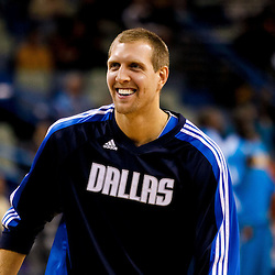 November 17, 2010; New Orleans, LA, USA; Dallas Mavericks power forward Dirk Nowitzki (41) of Germany during warm ups prior to tip off of a game against the New Orleans Hornets at the New Orleans Arena. Mandatory Credit: Derick E. Hingle