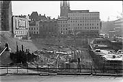 Stockholm kring Sergels torg under ombyggnad
