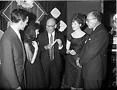 """1962 - """"Light and Lovely"""" new Coty Make-up range, reception at the Shelbourne Hotel"""