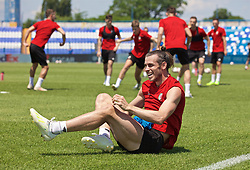 OSIJEK, CROATIA - Friday, June 7, 2019: Wales' Gareth Bale during a training session at Stadion Gradski vrt ahead of the UEFA Euro 2020 Qualifying Group E match against Croatia. (Pic by David Rawcliffe/Propaganda)