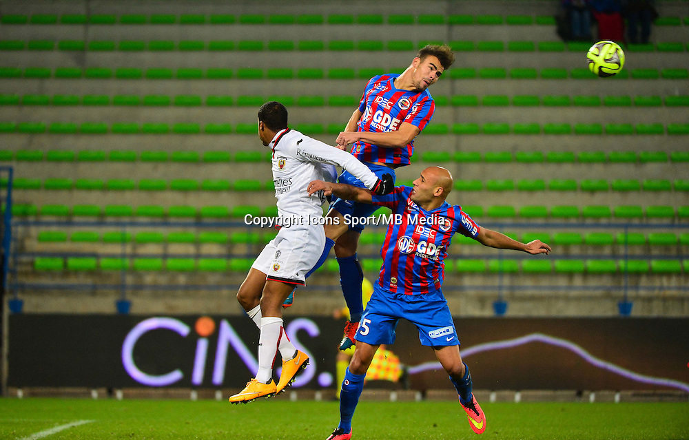 Damien DA SILVA / Alassane PLEA / Alaedinne YAHIA - 06.12.2014 - Caen / Nice - 17eme journee de Ligue 1 -<br />Photo : Dave Winter / Icon Sport