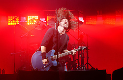 Dave Grohl of Foo Fighters performs on he Pyramid Stage at the Glastonbury Festival, at Worthy Farm in Somerset.