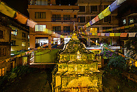 A Buddhist stupa, Thamel district, Kathmandu, Nepal.