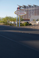 The famous Welcome to Las Vegas sign on Boulder Highway in Las Vegas Nevada