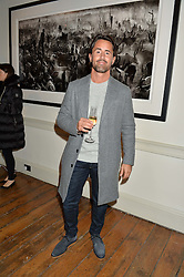 JAY RUTLAND at a private view of photographs by renowned wildlife photographer David Yarrow in aid of TUSK entitled 'Wild Encounters' held at Somerset House on 19th September 2016.