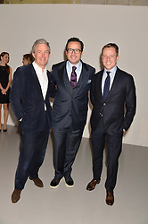 Left to right, BILL PRINCE, FRANCOIS-HENRY BENNAHMIAS ceo Audemars Piguet and JASON BRODERICK at the Audemars Piguet Royal Oak Offshore 42mm Party held at Victoria House, Bloomsbury Square, London on 23rd April 2014.