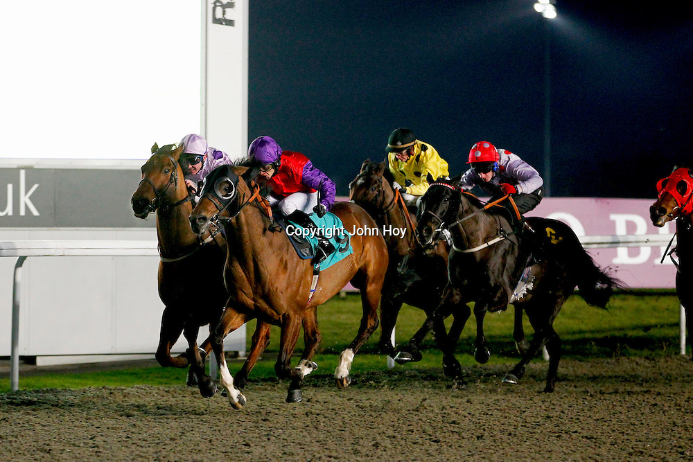 Silkee Supreme and S M Levey winning the 5.30 race