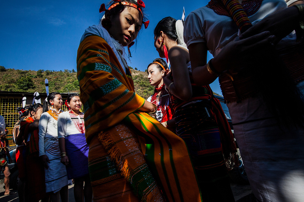 Tribes from across the region gather for the Hornbill Festival in Nagaland, India. The festival takes place over 7 days during the first week of December, and is a showcase of the various histories and cultures of the region.