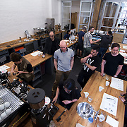 May 1, 2014 - New York, NY : New York hasn't just emerged as a serious coffee town, the city is now teeming with great coffee. Counter Culture Coffee not only sources, roasts, and delivers coffee from around the world; it runs regional training centers, which are dedicated to education and community engagement. Pictured here, a class is in full swing at Counter Culture's Broome Street training center on Thursday morning. CREDIT: Karsten Moran for The New York Times.