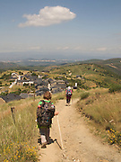 After passing the highest point on the Camino de Santiago de Compostela, the path descends for many hours towards Molinaseca and Ponferrada. The Mountains of Leon, which the Way of Saint James crosses, are very isolated and quiet.