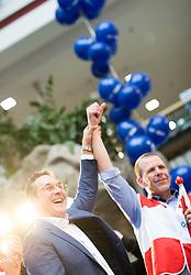26.04.2019, Lugnercity, Wien, AUT, FPÖ, Wahlkampfauftakt zur EU-Wahl. im Bild Vizekanzler Heinz-Christian Strache (FPÖ) und EU-Spitzenkandidat Harald Vilimsky (FPÖ) // Austrian Vice Chancellor Heinz-Christian Strache and Topcanidate Harald Vilimsky during campaign opening of the Austrian Freedom Party due to EU elections in Vienna, Austria on 2019/04/26. EXPA Pictures © 2019 PhotoCredit: EXPA/ Michael Gruber