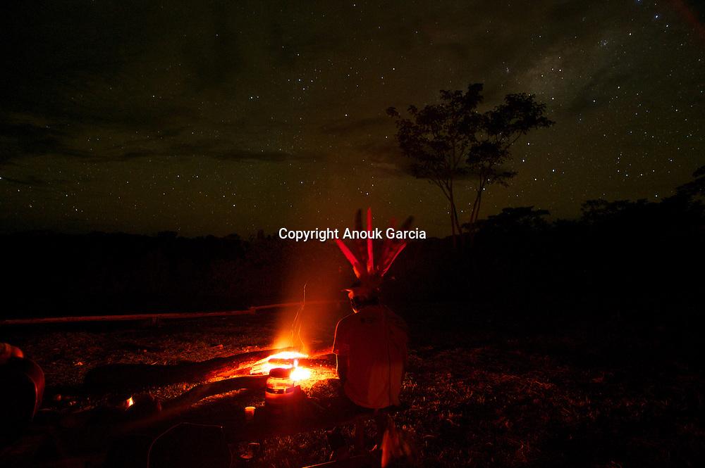 cérémonie d'ayahuasca  et mariri yawanawas