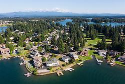 United States, Washington, Lake Tapps  (aerial view)