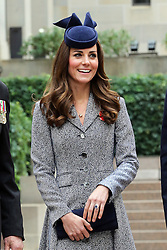 The Duchess of Cambridge at the ANZAC Day March and Commemorative Service at the Australian War Memorial in Canberra, Australia, Friday, 25th April 2014. Picture by Stephen Lock / i-Images