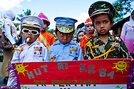 Independence day paraders, Sulawesi, Indonesia