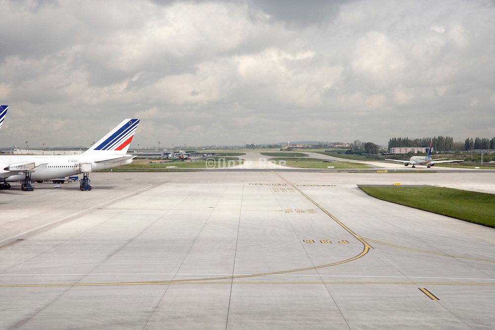 tarmac at Charles de Gaulle airport Paris