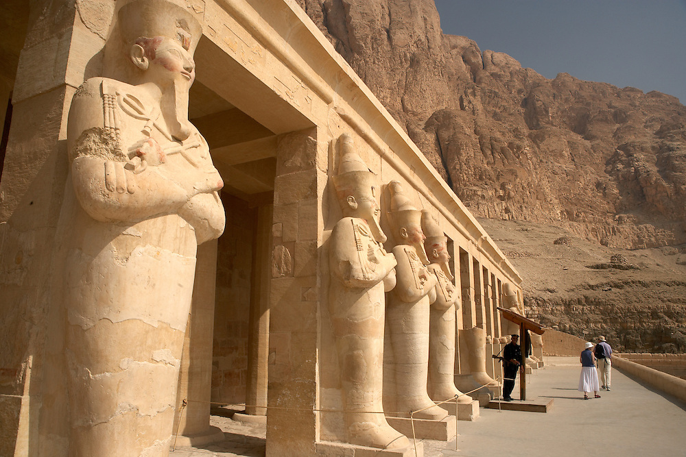 .Guard at Hatshepsut Temple at Deir al-Bahri, Egypt