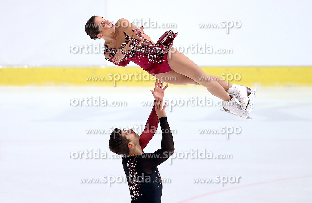 04.12.2015, Dom Sportova, Zagreb, CRO, ISU, Golden Spin of Zagreb, freies Programm, Paare, im Bild Nicole Della Monica - Matteo Guarise, Italy. // during the 48th Golden Spin of Zagreb 2015 doubles Free Program of ISU at the Dom Sportova in Zagreb, Croatia on 2015/12/04. EXPA Pictures &copy; 2015, PhotoCredit: EXPA/ Pixsell/ Igor Kralj<br /> <br /> *****ATTENTION - for AUT, SLO, SUI, SWE, ITA, FRA only*****
