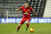 Blackburn Rovers midfielder Jordi Gomez on the attack during the Sky Bet Championship match between Derby County and Blackburn Rovers at the iPro Stadium, Derby, England on 24 February 2016. Photo by Aaron  Lupton.