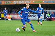 AFC Wimbledon midfielder Mitchell (Mitch) Pinnock (11) dribbling and about to set up goal for AFC Wimbledon midfielder Scott Wagstaff (7) during the EFL Sky Bet League 1 match between AFC Wimbledon and Gillingham at the Cherry Red Records Stadium, Kingston, England on 23 November 2019.