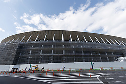 November 20, 2018 - Tokyo, Japan - A general view of the New National Stadium under construction in Tokyo's Shinjuku Ward. It will be the venue for the opening ceremony and the main stadium during the 2020 Tokyo Olympic and Paralympic Games. (Credit Image: © Rodrigo Reyes Marin/ZUMA Wire)