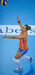 30-10-2011 VOLLEYBAL: NEDERLAND - BELGIE: ZWOLLE <br /> Nederland wint de tweede oefenwedstrijd met 3-2 van Belgie / Caroline Wensink<br /> ©2011-WWW.FOTOHOOGENDOORN.NL