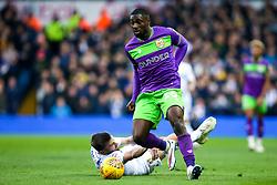 Hakeeb Adelakun of Bristol City goes past Stuart Dallas of Leeds United - Mandatory by-line: Robbie Stephenson/JMP - 24/11/2018 - FOOTBALL - Elland Road - Leeds, England - Leeds United v Bristol City - Sky Bet Championship