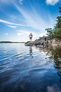 Paddling in Northern Maine.