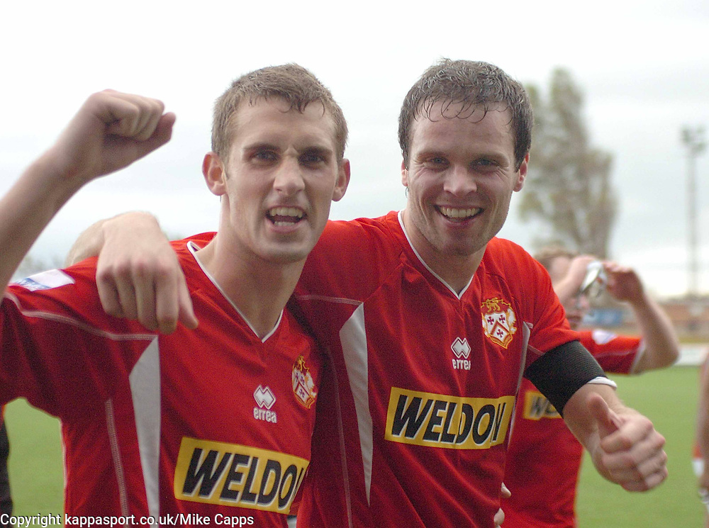 LUKE GRAHAM AND CRAIG MCLLWAIN  KETTERING TOWN  Southport v Kettering Town Conference Saturday 28th October 2006