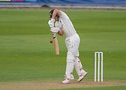 Sam Hain (Warwickshire County Cricket Club) in action during the LV County Championship Div 1 match between Durham County Cricket Club and Warwickshire County Cricket Club at the Emirates Durham ICG Ground, Chester-le-Street, United Kingdom on 13 July 2015. Photo by George Ledger.