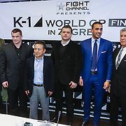 KRO/Zagreb/20130313- K1 WGP Final Zagreb, Hesdy Gerges en Mirko Cro Cop, Mike Kim, ?????????, Badr Hari, Micheal Buffet, ???????