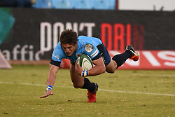 Piet Van Zyl scores a try during the Absa Currie Cup match between the Blue Bulls and DHL Western Province held at Loftus Versfeld stadium, Pretoria, South Africa on the 5th August 2016Photo by:   Real Time Images