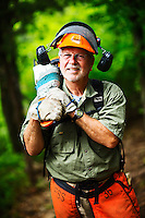 FAYETTEVILLE, AR, JULY 28, 2013:  Mike LeMasters for Arkansas Life Magazine.  Lemasters is a trail cutter on the Ozark Highlands Trail in Arkansas