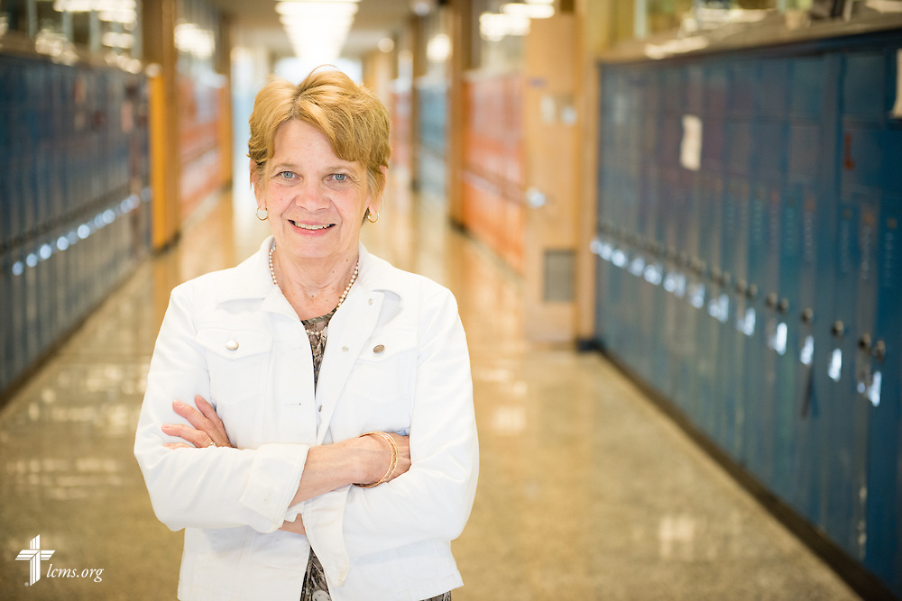 Portrait of Judy Schultz, principal at Lutheran Special School & Education Services, located in Milwaukee Lutheran High School, on Tuesday, May 19, 2015, in Milwaukee, Wis. LCMS Communications/Erik M. Lunsford