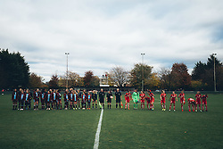 Teams line up - Rogan Thomson/JMP - 06/11/2016 - FOOTBALL - The Northcourt Stadium - Abingdon-on-Thames, England - Oxford United Women v Bristol City Women - FA Women's Super League 2.