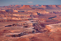 View from the Green River Overlook, Canyonlands National Park Utah USA