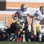 Salesianum running back Colby Reeder (28) cuts up in the middle for a 55 yard touchdown in the fourth quarter during a regular season football game between No. 2 Salesianum and No.1 William Penn Saturday, Oct. 31, 2015 at William Penn High School in New Castle.